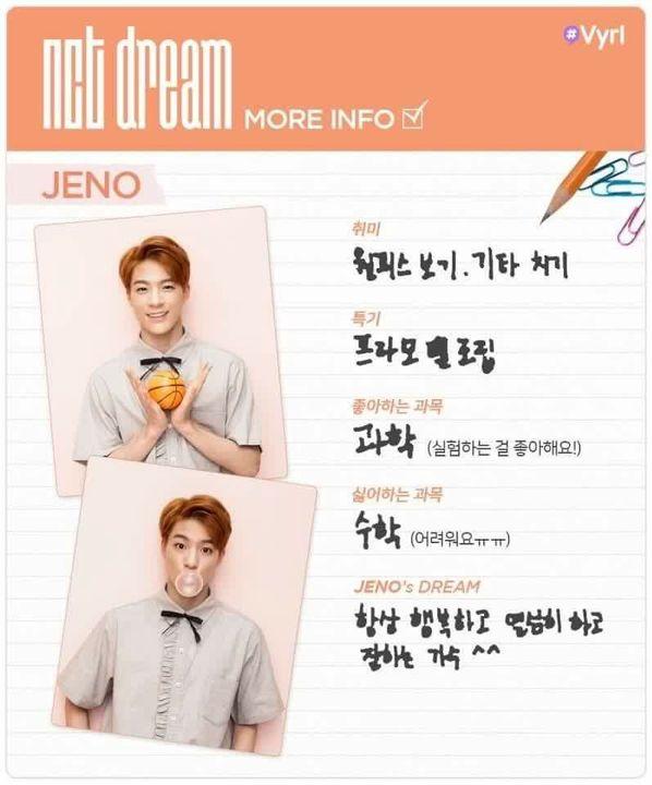 NCT | Neo Culture Technology - Diary - Identity Card - Jeno - Wattpad