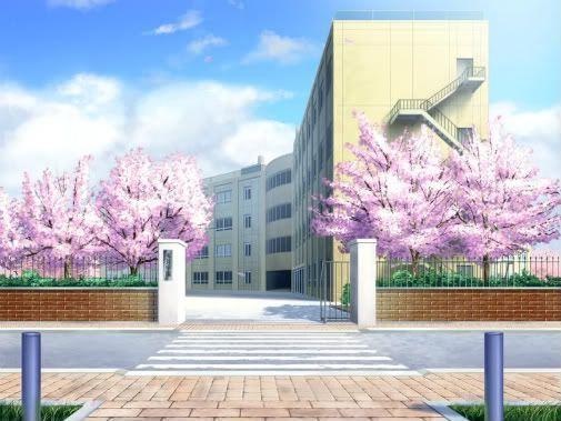"""كانت تسير في الطريق المليء بطلاب الثآنوية الى ان وصلت الى مدرسة مَكتوبٌ عليها """" مدرسة أراكاوا الثانوية """""""