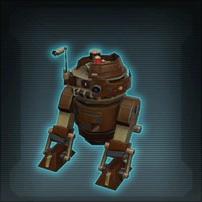 Tell the story of a D4-V3 model astromech droid, supposedly sent for repairs following a battle at some point during the time of the Old Republic
