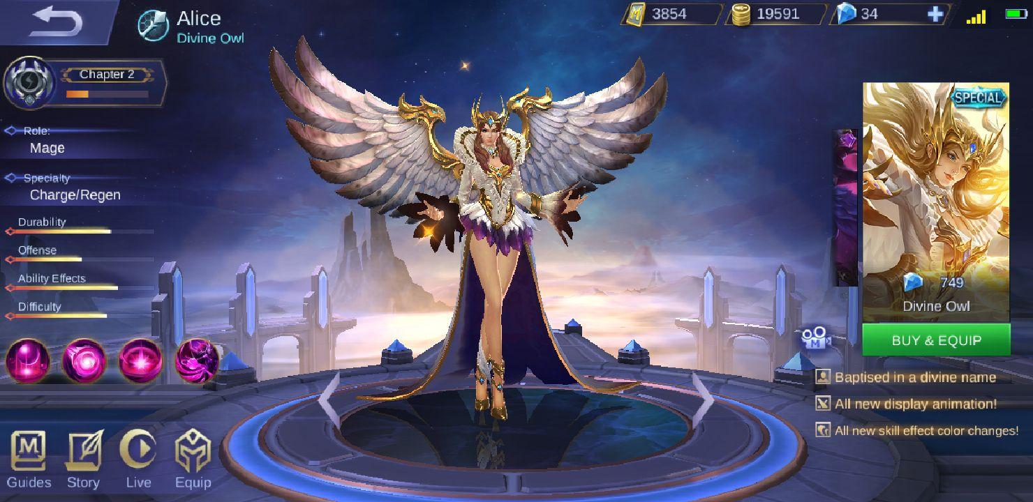 Mobile Legends Characters u0026 Skins - ☬Divine Owl - Wattpad