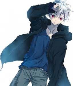 Image result for anime garçon cheveux blanc