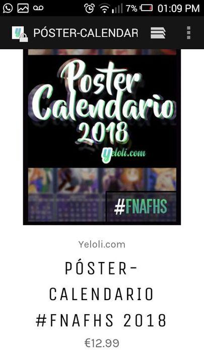 Poster Calendario 2018 Fnafhs.Whatsapp Mlb Y Fnafhs Cap 22 Fnafhs Wattpad