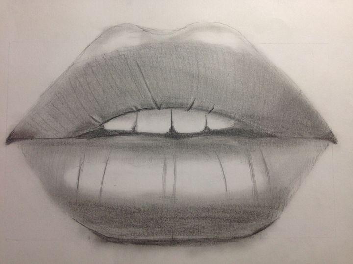 Mes dessins bouche r aliste wattpad - Bouche en dessin ...