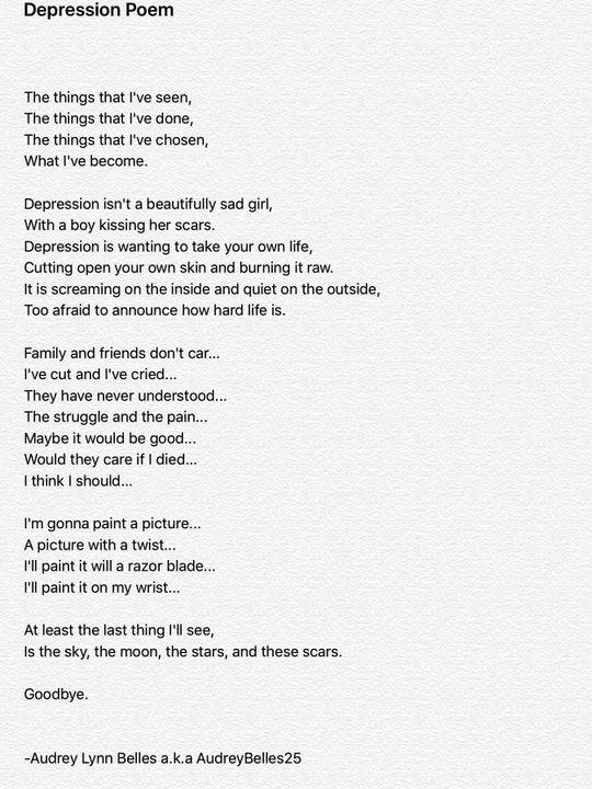 Poems Depression 5