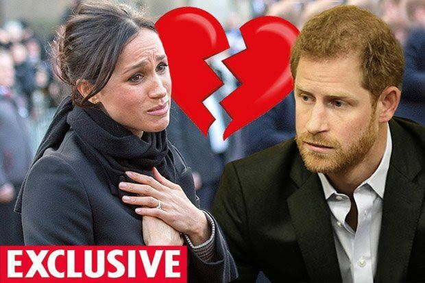 "PRINCE Harry and Meghan Markle's ""honeymoon phase"" is crashing down and result in the pair splitting up weeks before they marry"