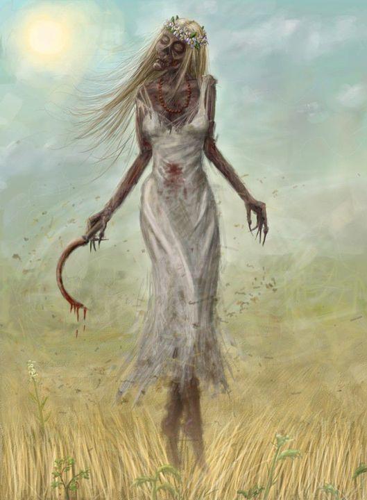 Przykładami takich demonów są najbardziej znane Leśne Baby czyli demony przypominające starą, brzydką kobietę, mieszkającą w ciemnych lasach, natomiast kobieta, która zmarła śmiercią tragiczną i nienaturalną stawała się zmorą