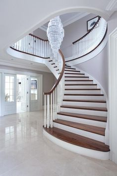 I walked out of the room and I was greeted with a huge ass white stair case