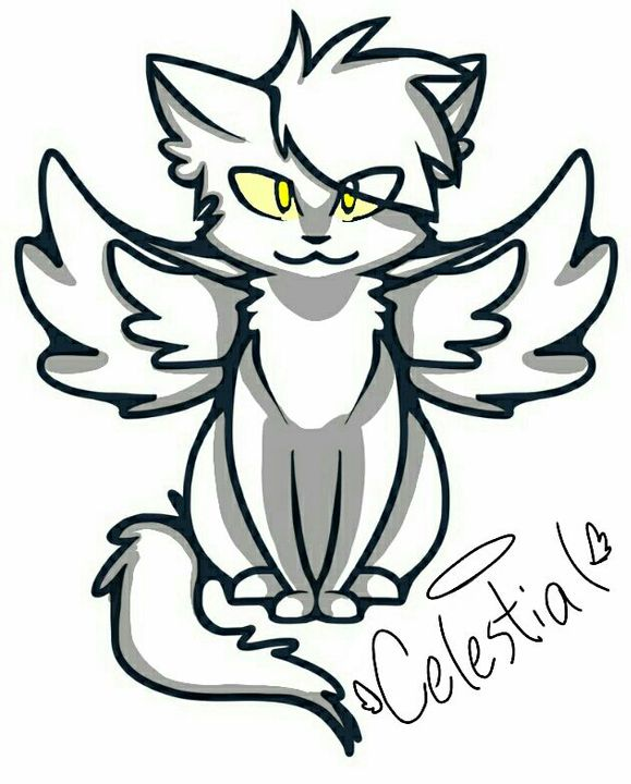 I found this cute Angel kitty base, so I decided to use it for Celestial ^w^ No, he doesn't have wings, but I love this base so I just decided to do it with him