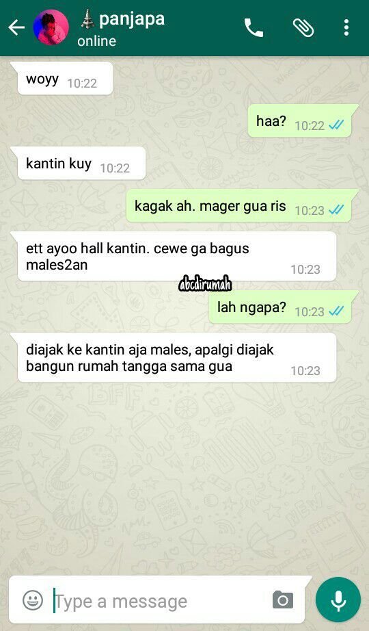 Fake Chat Musser X Cjr X Irzan X Kipe Fariz Gombal Receh Wattpad