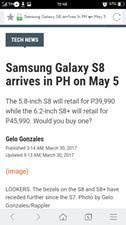 someone ask how much is samsung s8 well this is how much it cost in ph