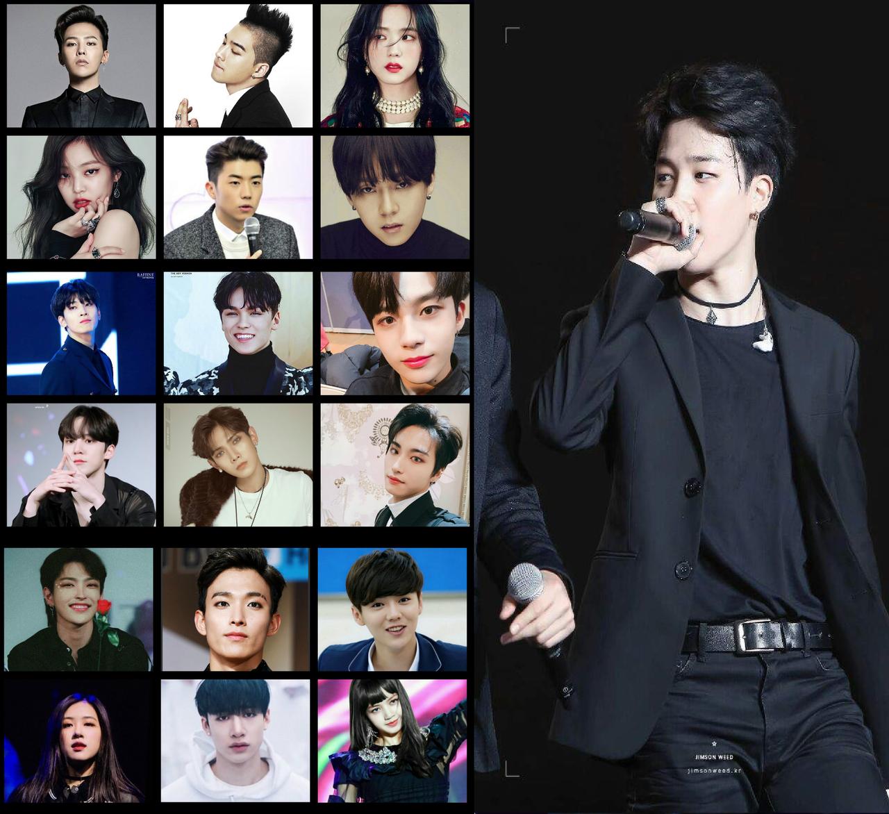 Familión coreano: De izquierda a derecha según la edad y Jimin es el menor uwu