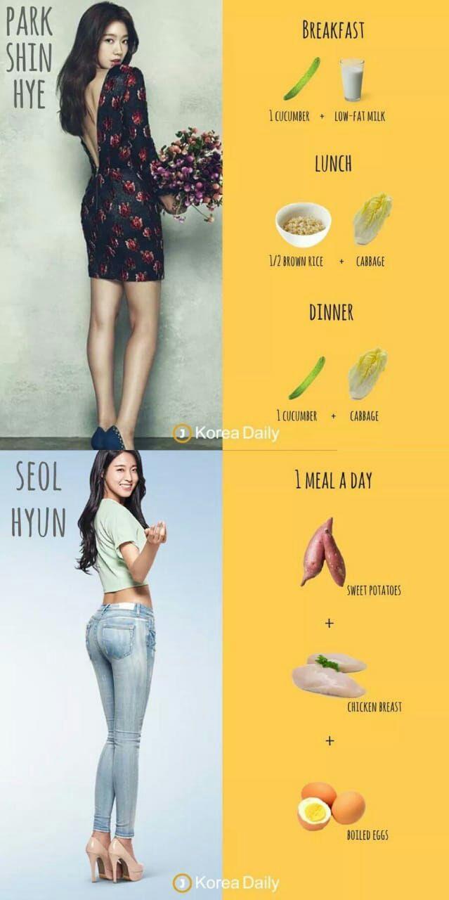 Como bajar de peso dieta coreana