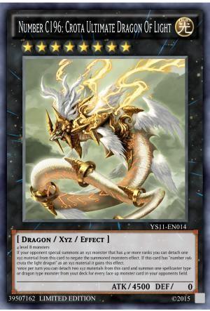 Yugioh Cards Number C196 Crota Ultimate Dragon Of Light Wattpad