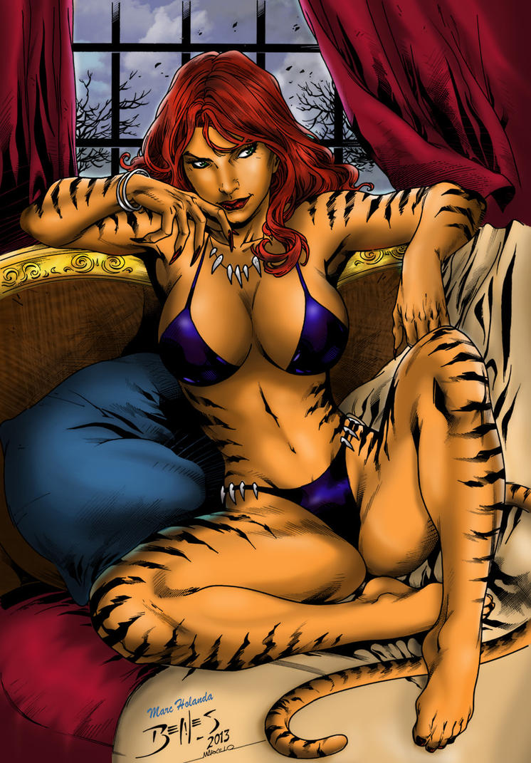 Male Reader X Fem Heroes Villains Marveldc - Tigra X Male Reader-7135