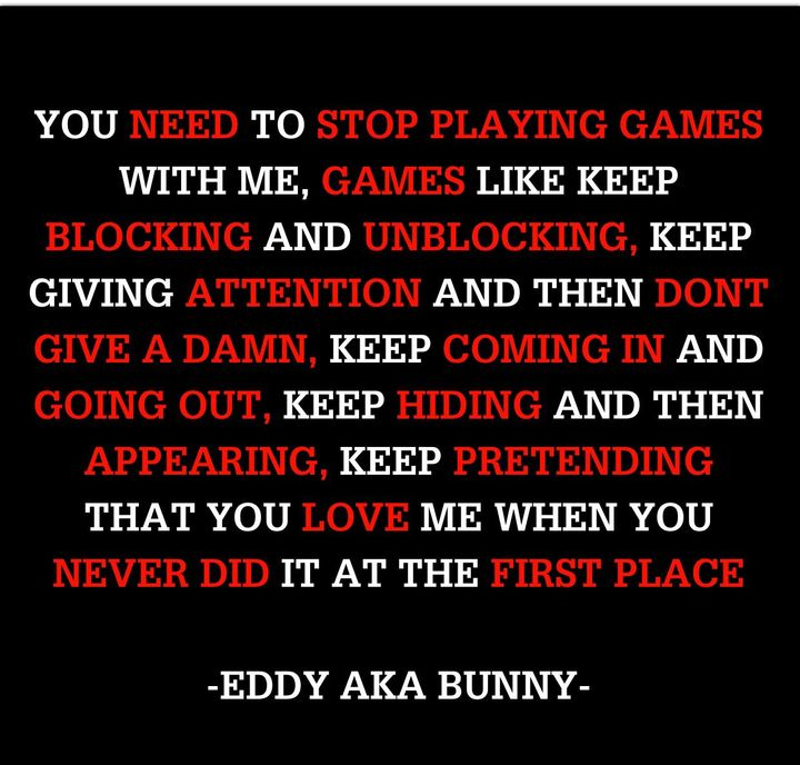 PICTURE QUOTES - STOP PLAYING GAMES 😇 - Wattpad
