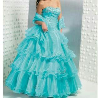 Vestidos de xv azul electrico
