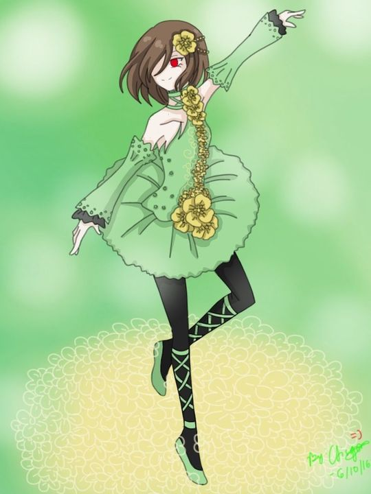 Chara: *using one hand to hold himself up* I learned a lot with the other chara she can dance too =)