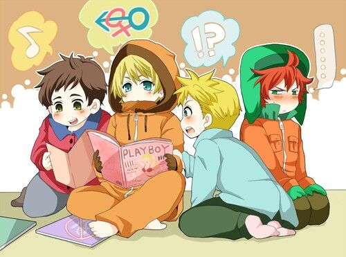 Seme Male Reader X South Park Butters X Mute Male Reader X Kenny