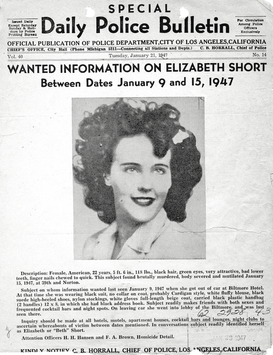 """the Bureau also had her """"mug shot"""" in its files and provided it to the press"""