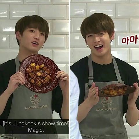 *has a flashback of when he first tried to cook*