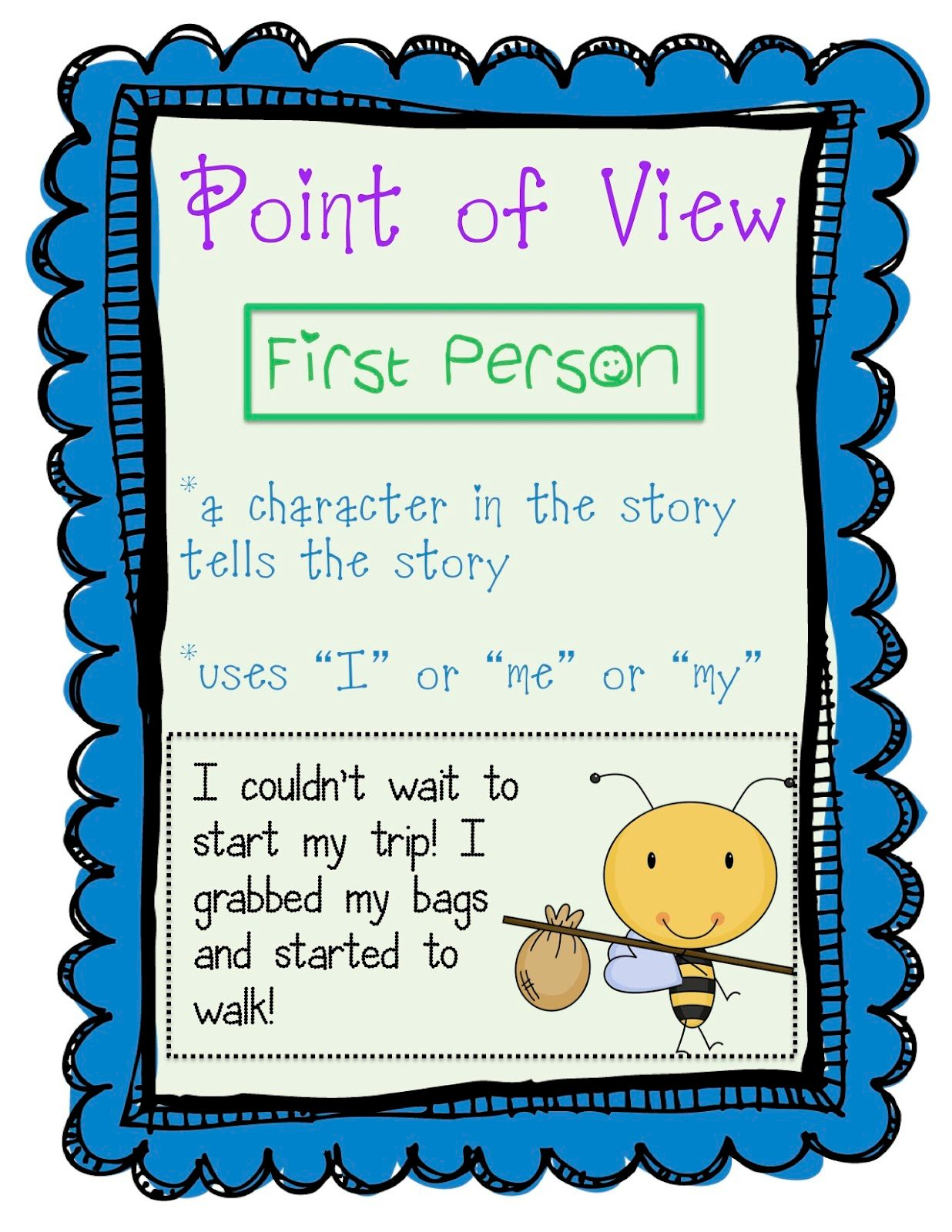 Examples of Writing in First Person