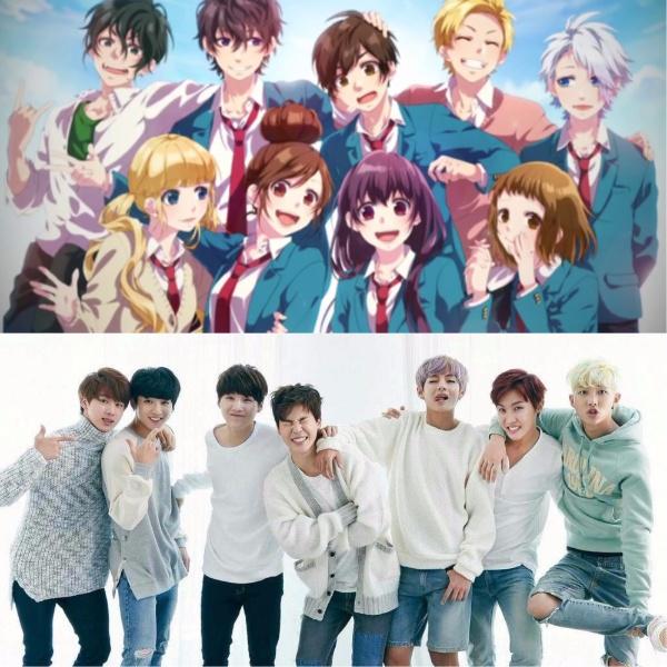 Anime Bts Jhope Jimin Jin Jungkook Namjoon Suga Taehyung