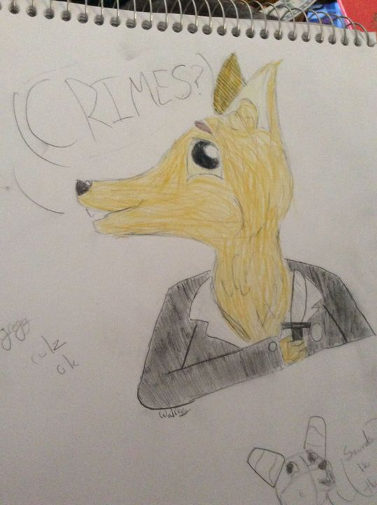 A+ CRIME DOGGO! He's so cute???