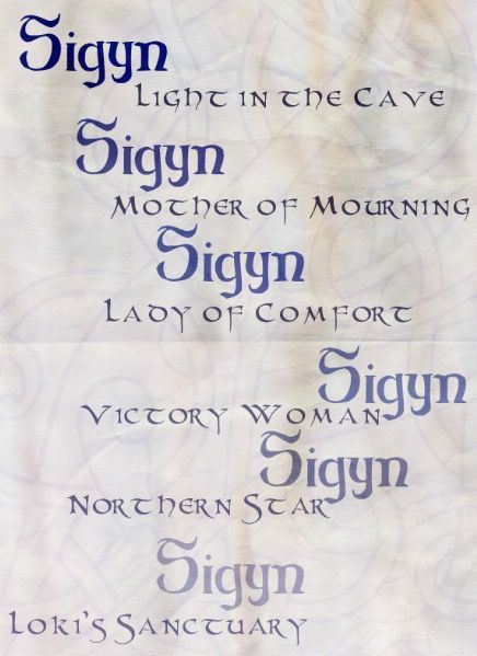The cast obviously includes Loki, Thor, And Sif (who actually has golden hair, look it up) and Sigyn