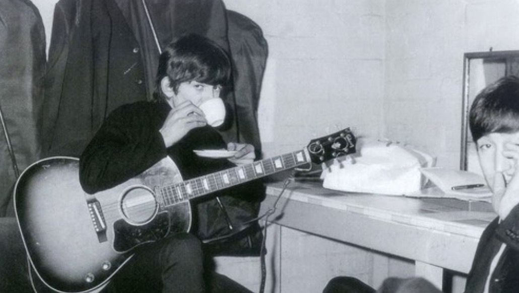 George: *drinking tea moodily