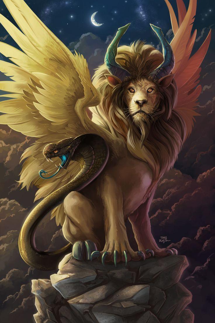 Tenía la fuerza y la velocidad de un león, la habilidad de expulsar fuego (por la boca del león), el veneno de la serpiente y un hambre voraz