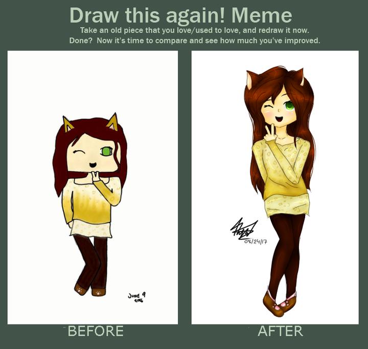 Drawings N Edits Draw This Again Meme Thing Wattpad