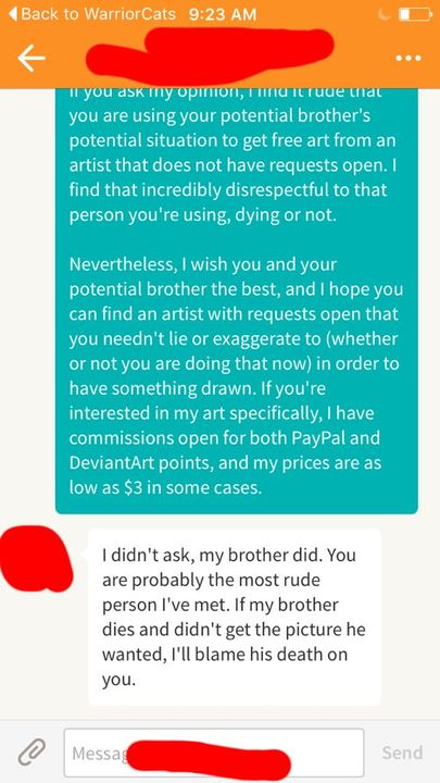 Even More Art - How NOT to ask for art from someone - Wattpad