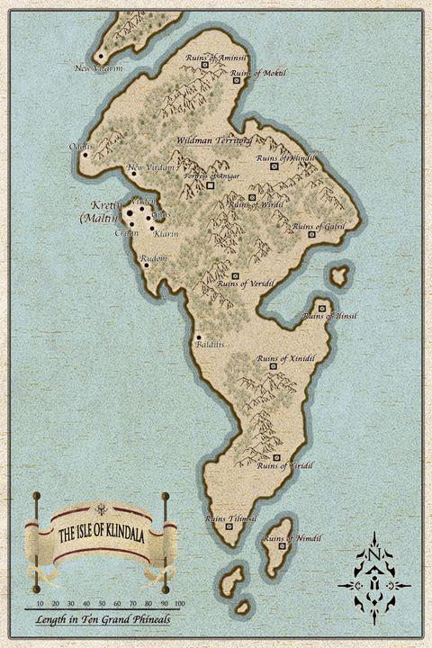 Map of the Isle of Klindala