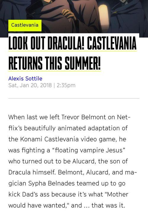 Castlevania Randoms 2! - News reports - Wattpad