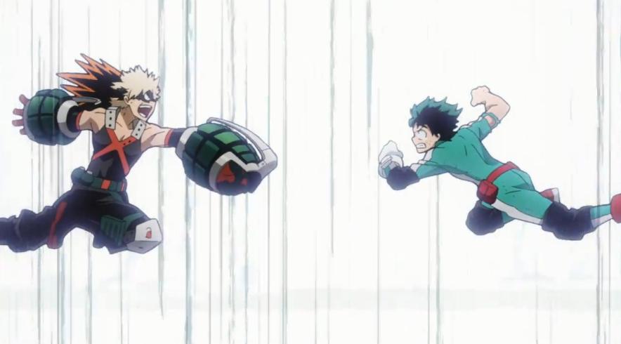 Resultado de imagen para bakugou vs deku