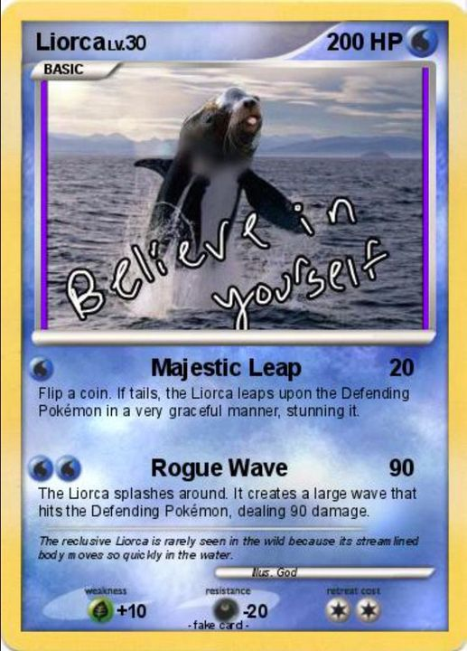 In fact, I made them all Pokémon cards