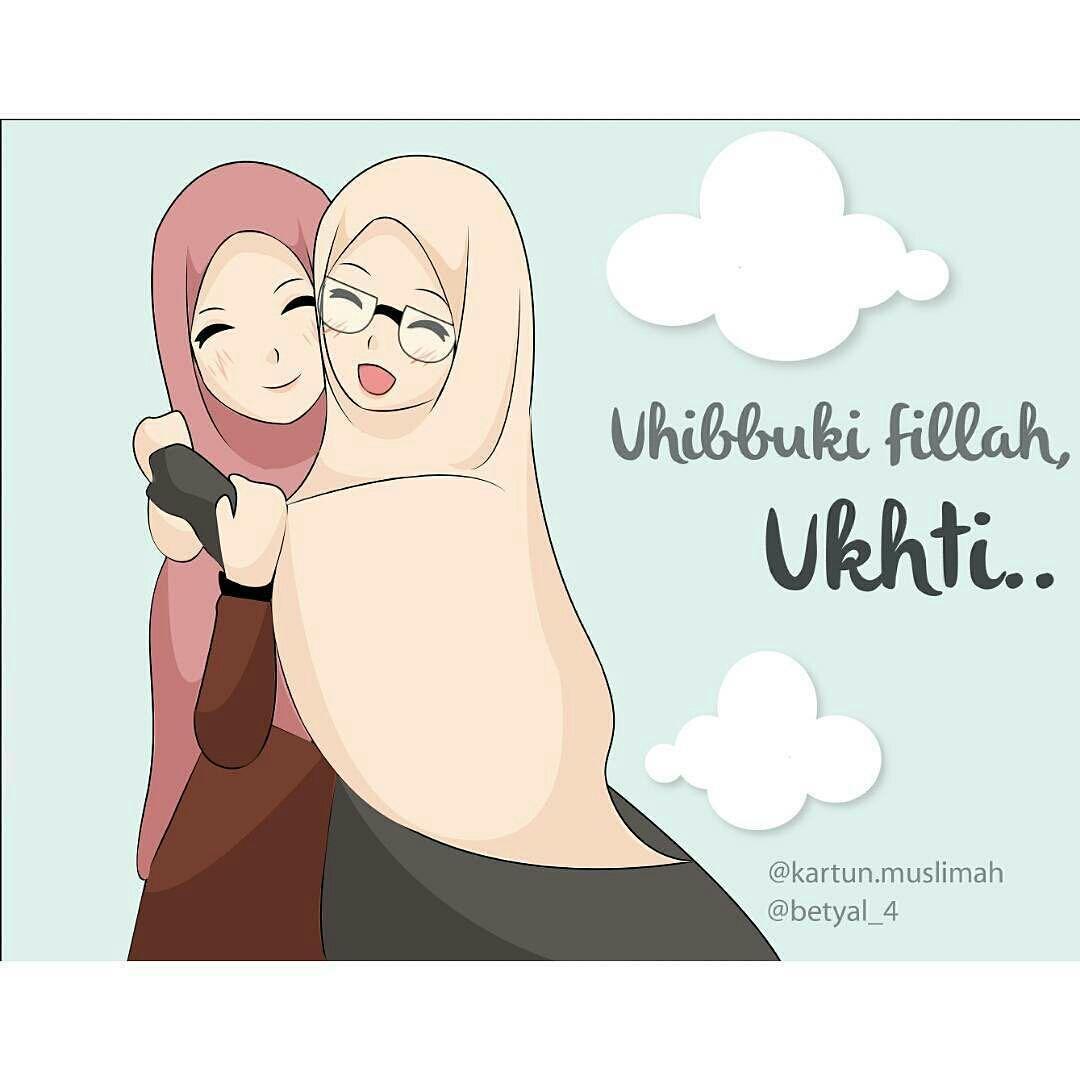 Animasi Kartun Hijab Syari Gambar Kartun