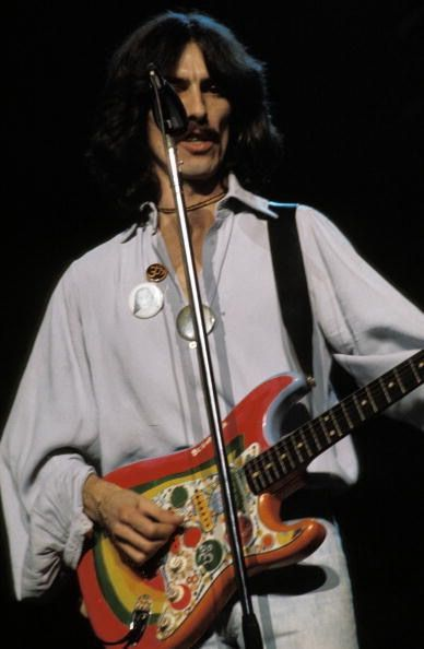 I absolutely love George's psychedelic Strat, Rocky!!! I even made a Christmas ornament of it last year