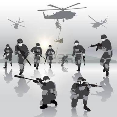 Một tốp người tinh anh thành thạo nhảy từ mấy chiếc trực thăng xuống, nhìn vào kỹ thuật và hành động điêu luyện của bọn họ có kỷ luật và trình tự hẳn hoi, cũng đã đủ biết họ là những người được huấn luyện đặc biệt theo lối quân sự