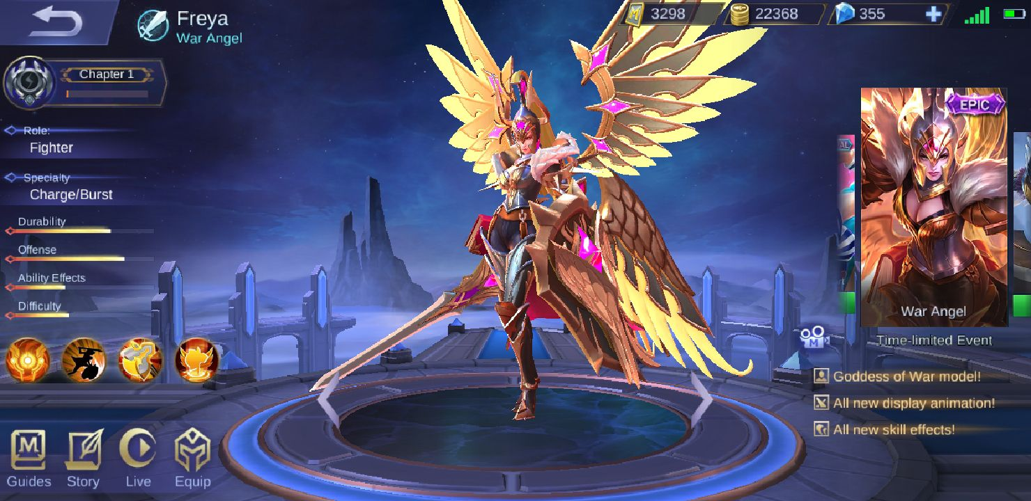 Mobile Legends Characters & Skins - ☬War Angel - Wattpad