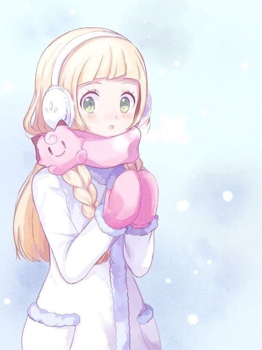 I found a dark blue winter coat to wear and Lillie found a complete new outfit to wear