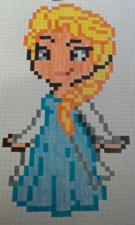 Pixel Art Terminé Frozen La Reine Des Neiges Wattpad