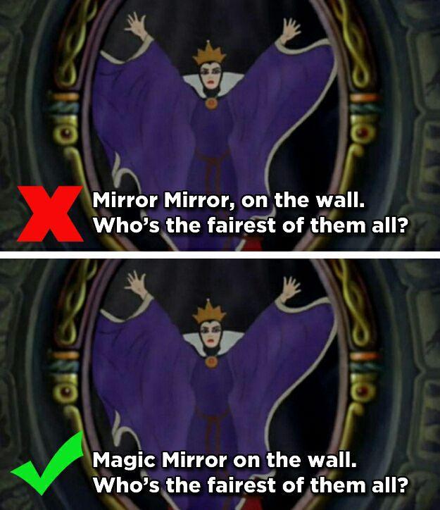 Výsledek obrázku pro mirror mirror on the wall mandela effect