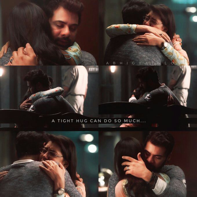 He patted her back & assured her that he is with her