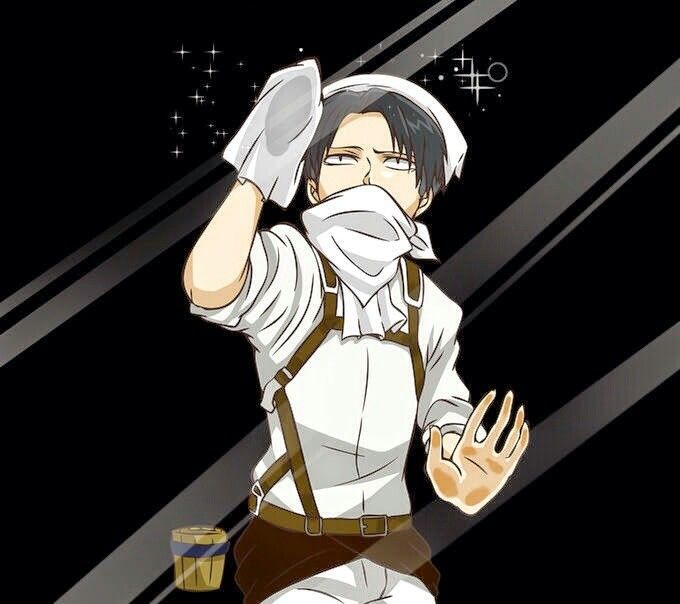 Images Of Levi Ackerman Cleaning Wallpaper