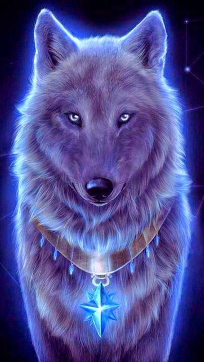 A bright light surrounded you and died a second later, and now there was a wolf next to you
