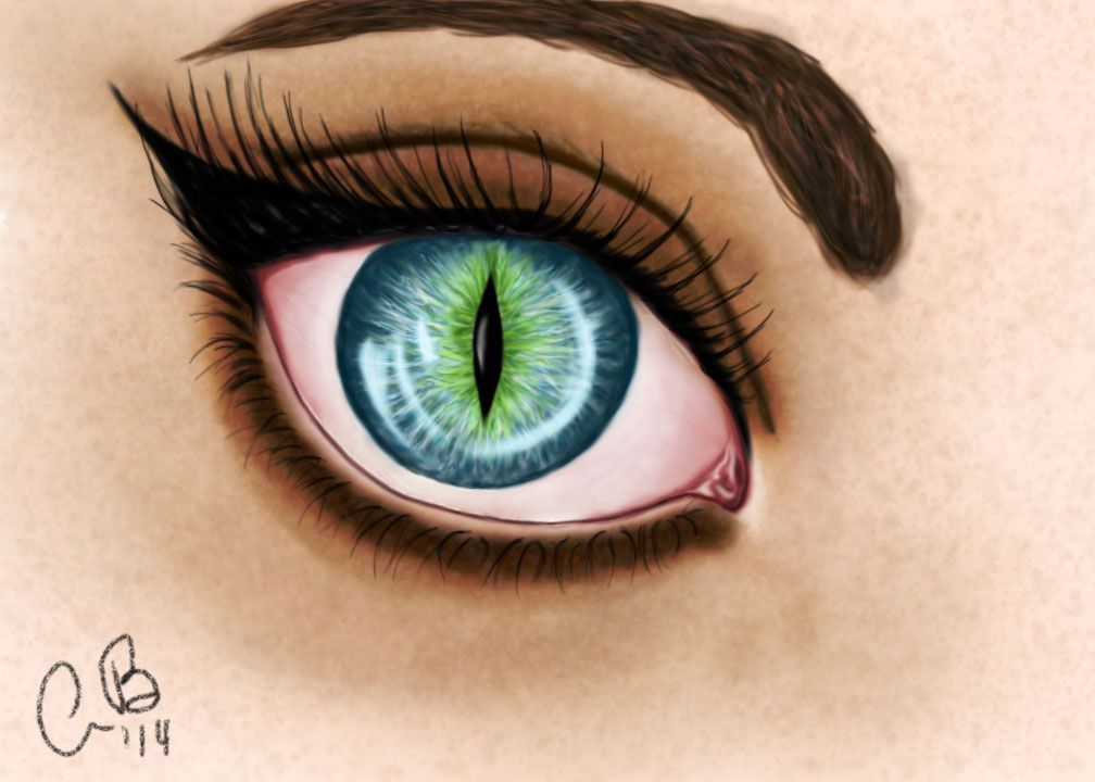 (Like that only the whole eye is blue and green and it's in your wolf form