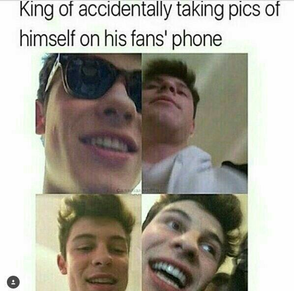 Yo I swear if I met Shawn and I leave and go home and find out Shawn ACCIDENTALLY TOOK PICTURES OF HIMSELF ON MY PHONE?! I'd really die like I got me some exclusive photos! I'd cherish it