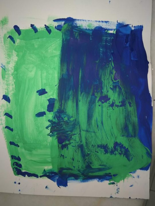 - A blue and green Minecraft planet by Liv (6) -