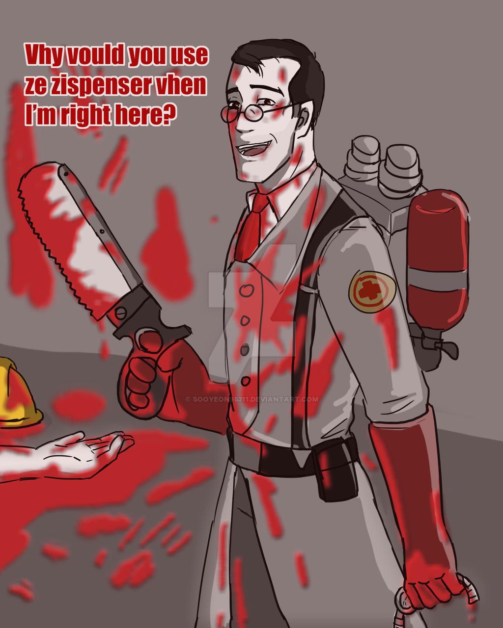 Tf2 x reader oneshots - Yandere! Medic x Nurse! Reader